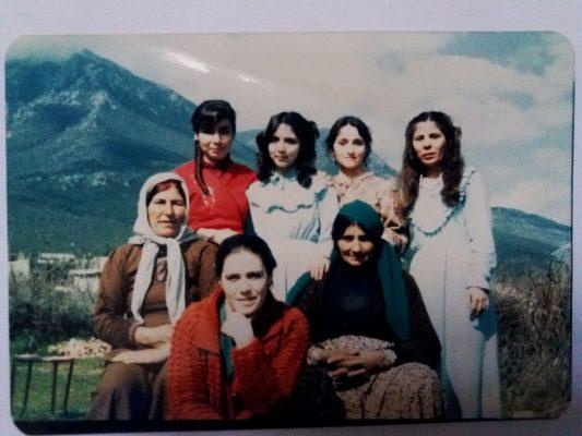 Heyam with village women in 1985
